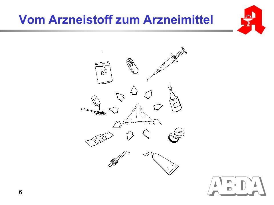 6 Vom Arzneistoff zum Arzneimittel