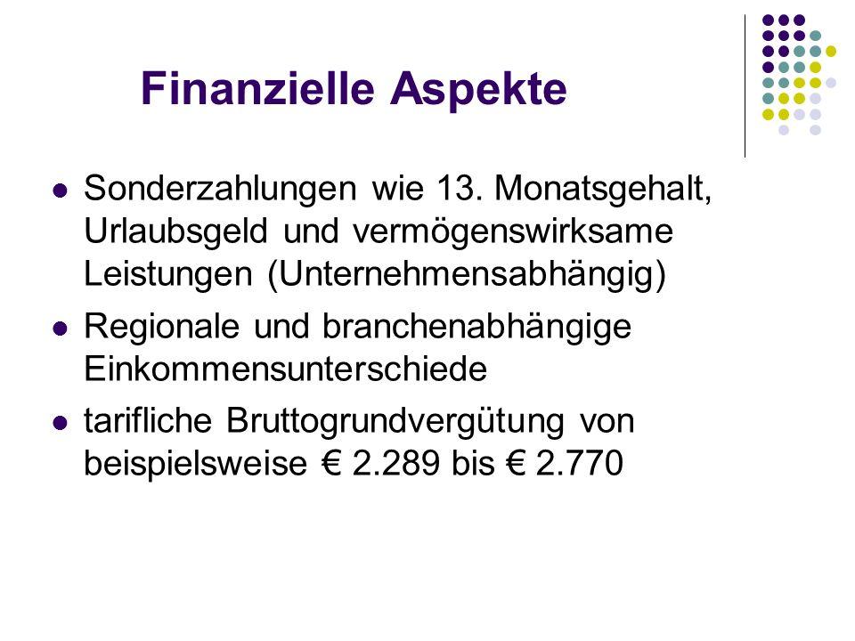 Finanzielle Aspekte Sonderzahlungen wie 13.