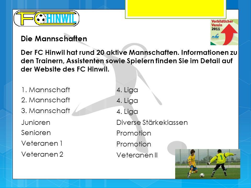 Die Mannschaften Der FC Hinwil hat rund 20 aktive Mannschaften. Informationen zu den Trainern, Assistenten sowie Spielern finden Sie im Detail auf der