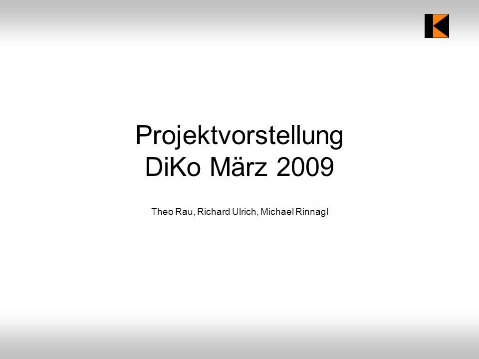 Projektvorstellung DiKo März 2009 Theo Rau, Richard Ulrich, Michael Rinnagl