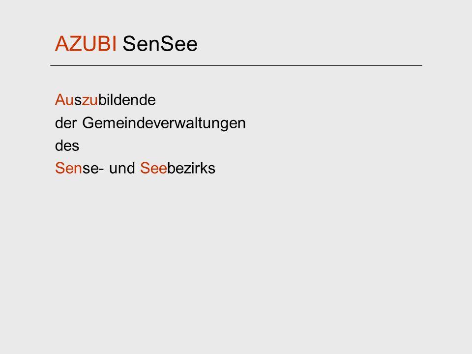 AZUBI SenSee Auszubildende der Gemeindeverwaltungen des Sense- und Seebezirks