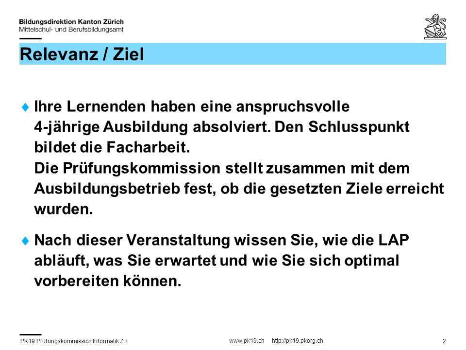 PK19 Prüfungskommission Informatik ZH www.pk19.ch http://pk19.pkorg.ch 33 2.