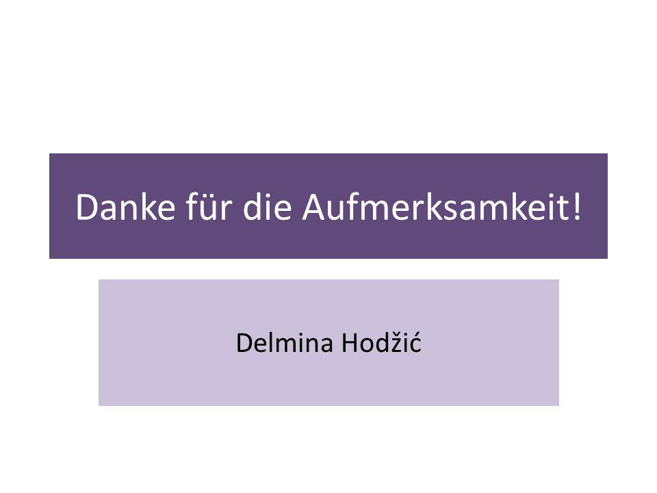 Danke für die Aufmerksamkeit! Delmina Hodžić