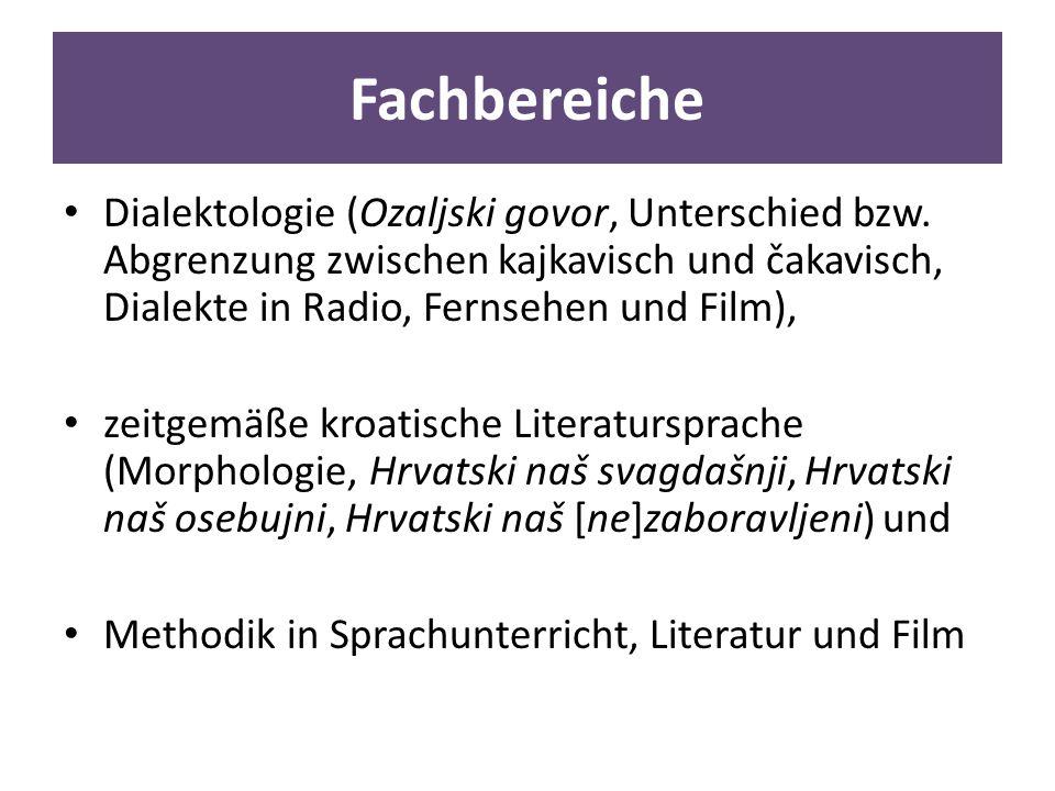 Fachbereiche Dialektologie (Ozaljski govor, Unterschied bzw.