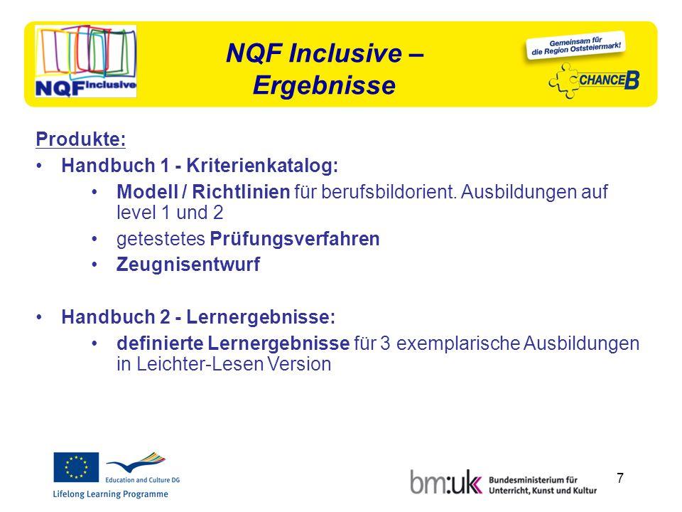 7 Produkte: Handbuch 1 - Kriterienkatalog: Modell / Richtlinien für berufsbildorient.