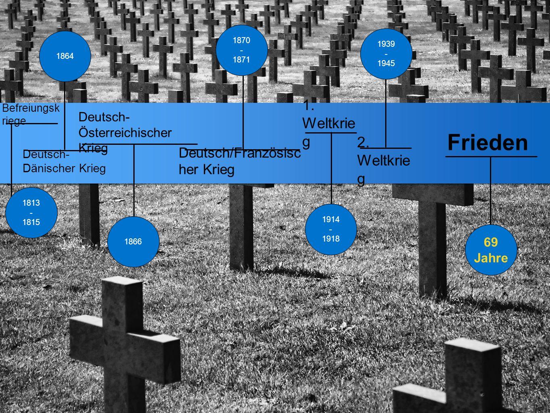 Deutsch- Österreichischer Krieg 1. Weltkrie g Deutsch/Französisc her Krieg 2. Weltkrie g Deutsch- Dänischer Krieg Befreiungsk riege 1939 - 1945 1866 1