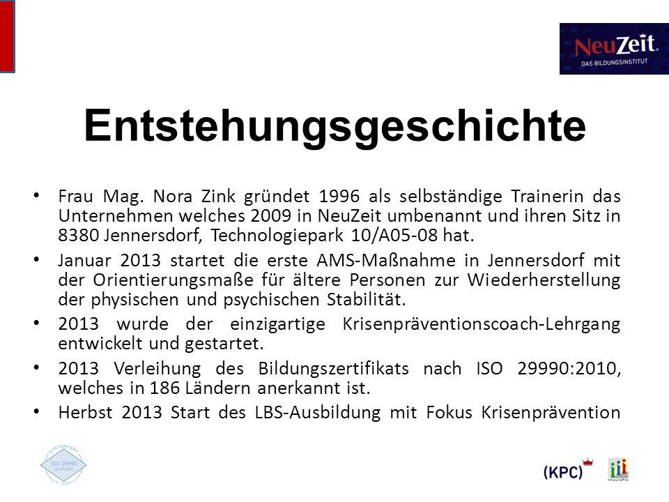 Entstehungsgeschichte Frau Mag.