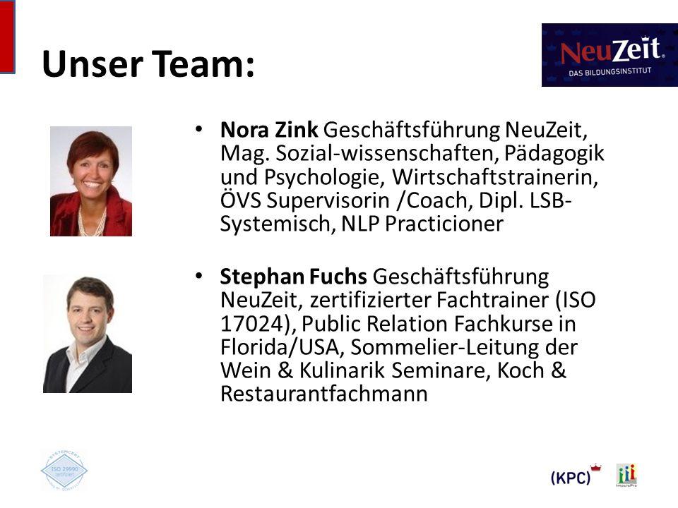 Unser Team: Nora Zink Geschäftsführung NeuZeit, Mag.