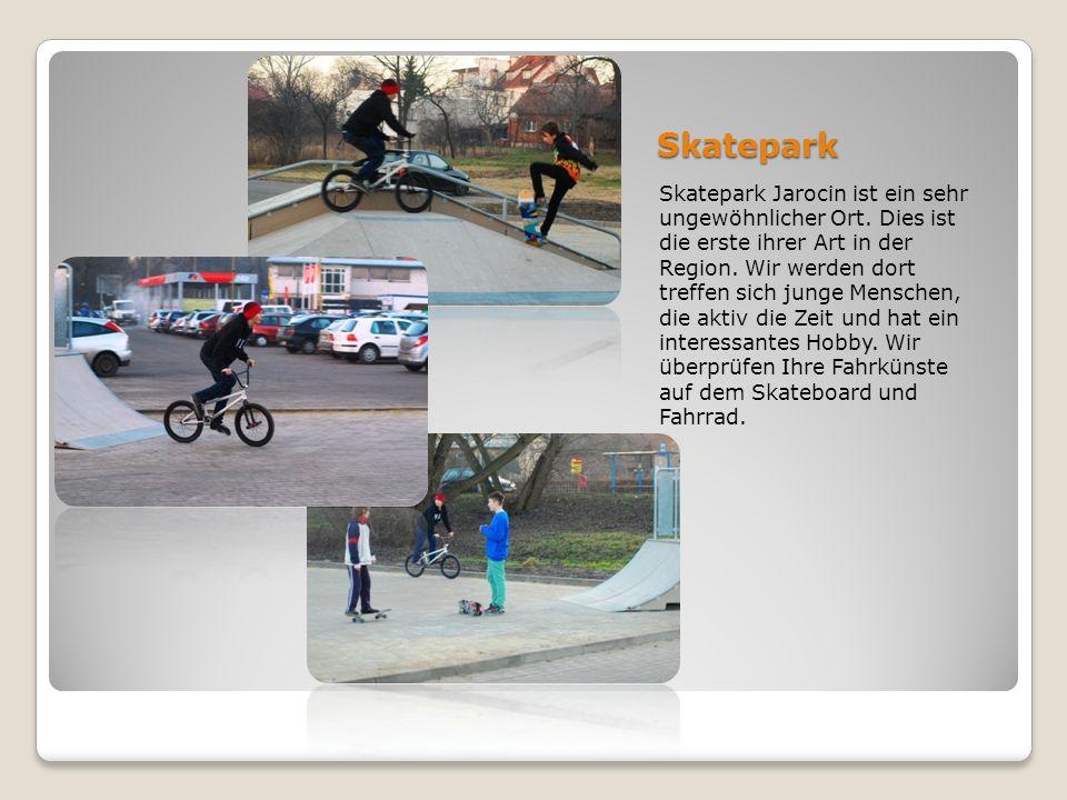 Skatepark Skatepark Jarocin ist ein sehr ungewöhnlicher Ort. Dies ist die erste ihrer Art in der Region. Wir werden dort treffen sich junge Menschen,