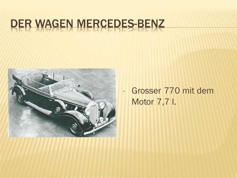 Grosser 770 mit dem Motor 7,7 l.