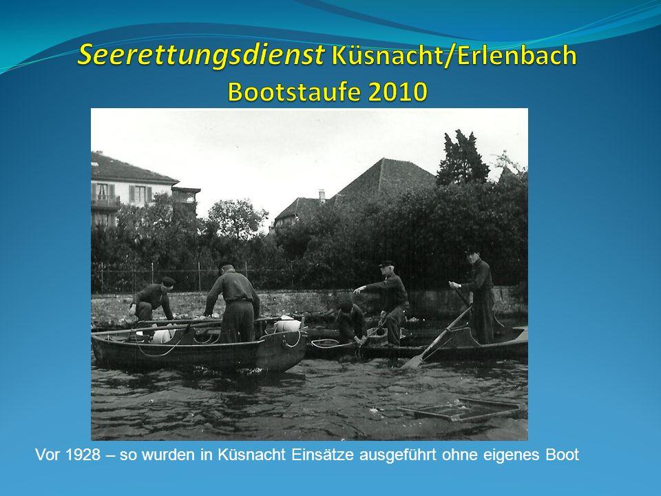 Vor 1928 – so wurden in Küsnacht Einsätze ausgeführt ohne eigenes Boot