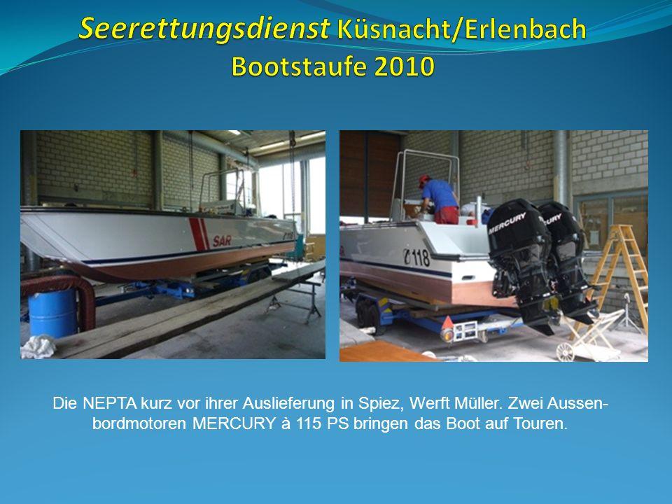 Die NEPTA kurz vor ihrer Auslieferung in Spiez, Werft Müller.
