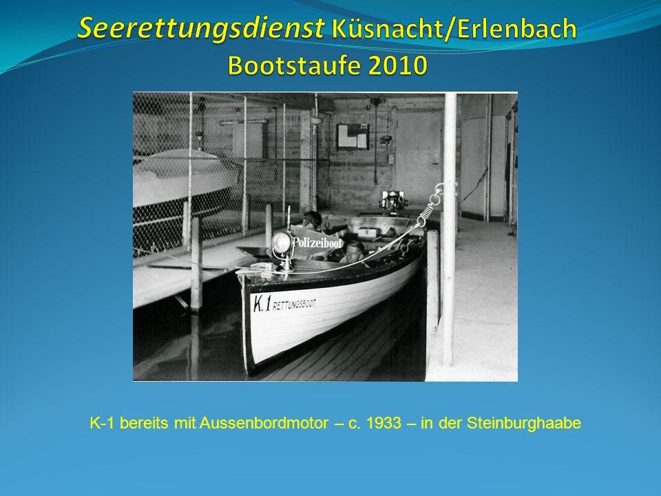 K-1 bereits mit Aussenbordmotor – c. 1933 – in der Steinburghaabe