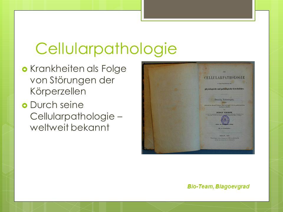 Cellularpathologie Bio-Team, Blagoevgrad Krankheiten als Folge von Störungen der Körperzellen Durch seine Cellularpathologie – weltweit bekannt