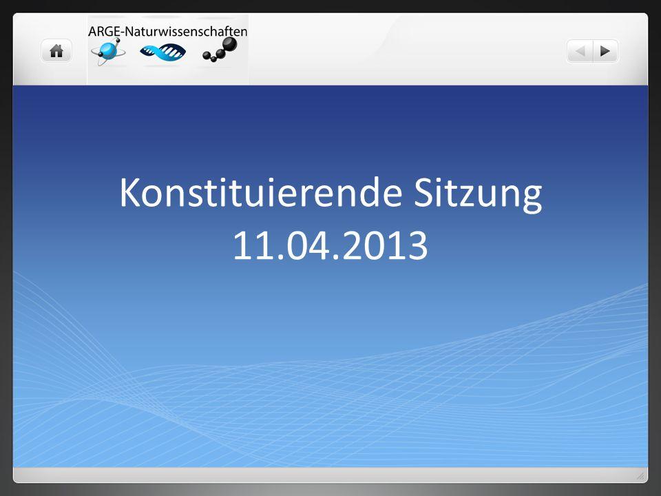 Konstituierende Sitzung 11.04.2013