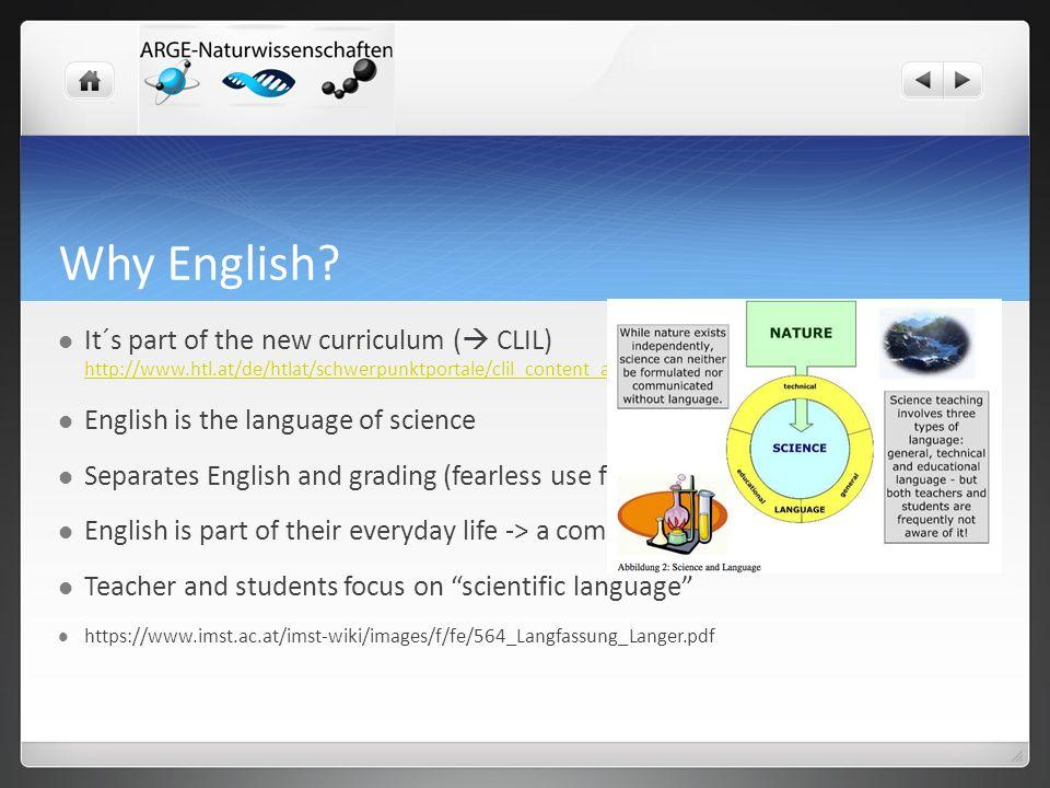 Why English.