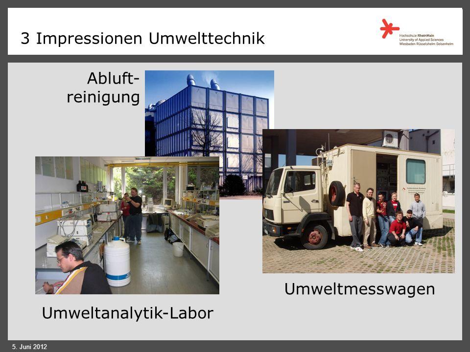 3 Schwerpunkt Umwelttechnik: Aufgaben Planung, Errichtung und Betrieb von umwelttechnischen Anlagen Umweltgerechte Produktion Untersuchungs- und Überw
