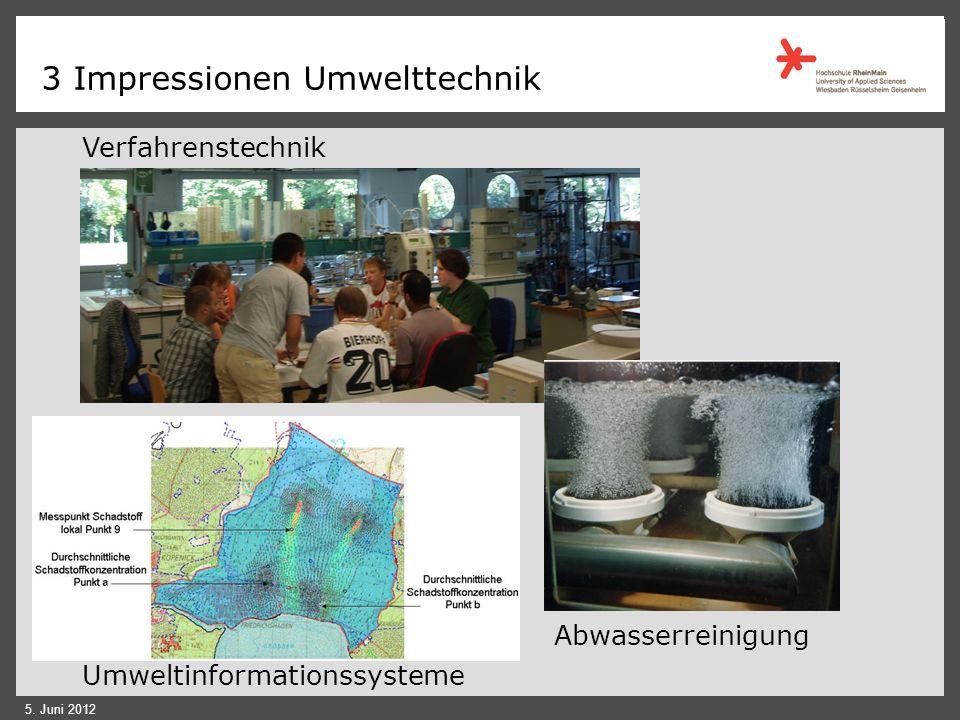 3 Impressionen Umwelttechnik 5. Juni 2012 Umweltanalytik-Labor Umweltmesswagen Abluft- reinigung