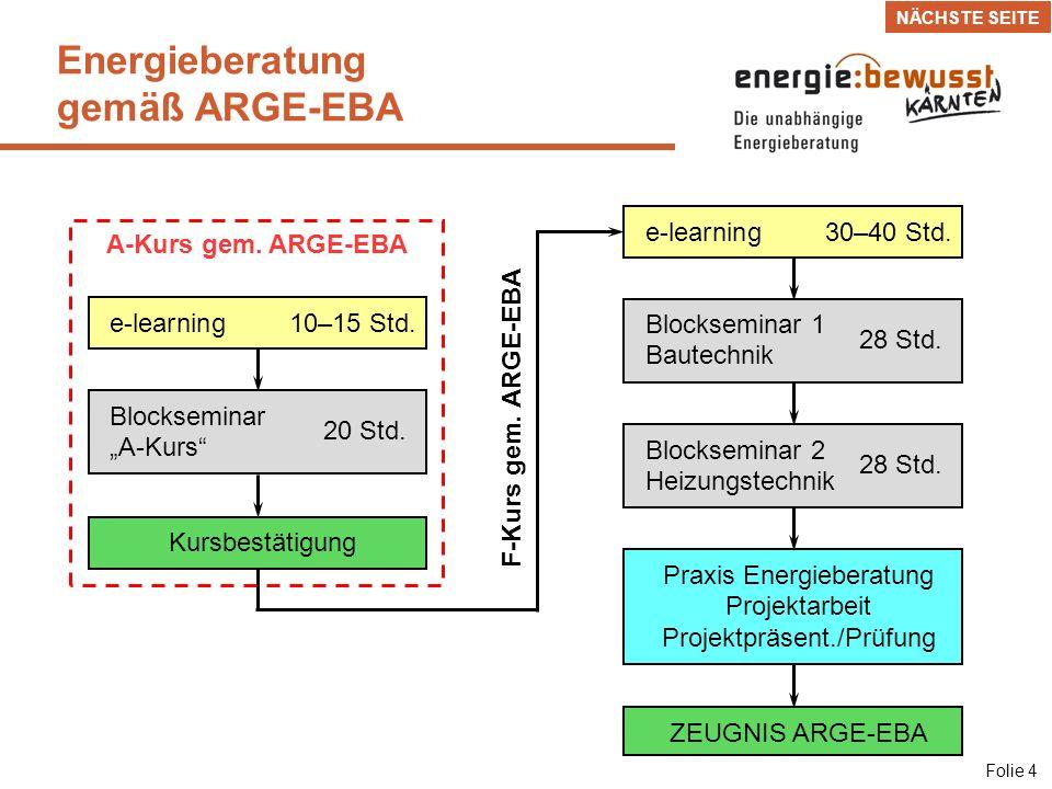 e-learning Energieausweisberechnung 30 bis 40 Std.