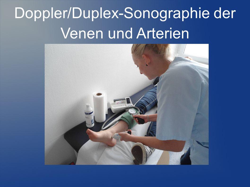 Doppler/Duplex-Sonographie der Venen und Arterien