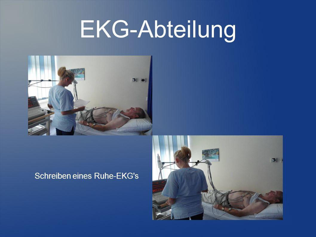 EKG-Abteilung Schreiben eines Ruhe-EKG's