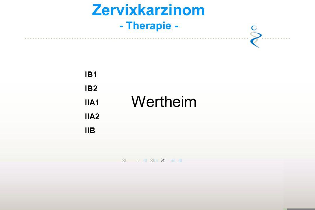 Zervixkarzinom - Therapie - IB1 IB2 IIA1 IIA2 IIB Wertheim