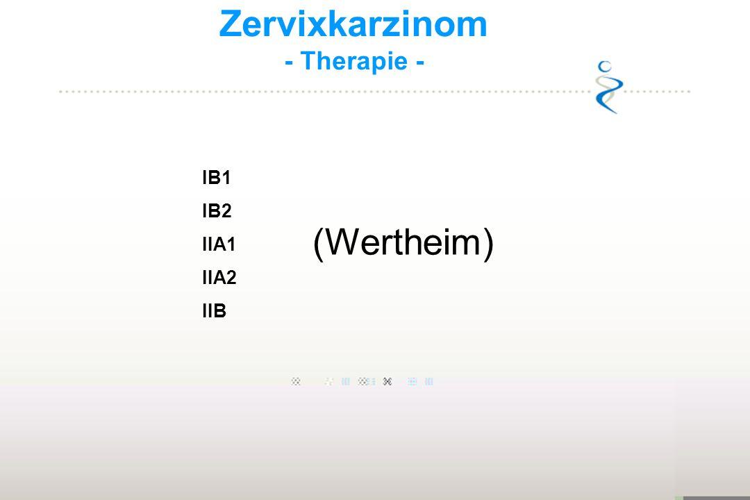Zervixkarzinom - Therapie - IB1 IB2 IIA1 IIA2 IIB (Wertheim)