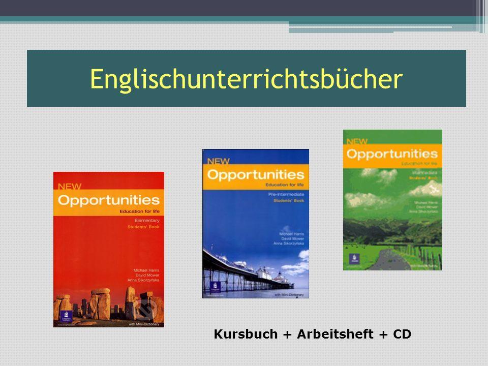 Englischunterrichtsbücher Kursbuch + Arbeitsheft + CD
