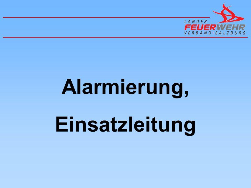Alarmierungsstellen LAWZ Salzburg BAWZ Flachgau (L´hausen) BAWZ Tennengau (Hallein) BAWZ Pongau (St.