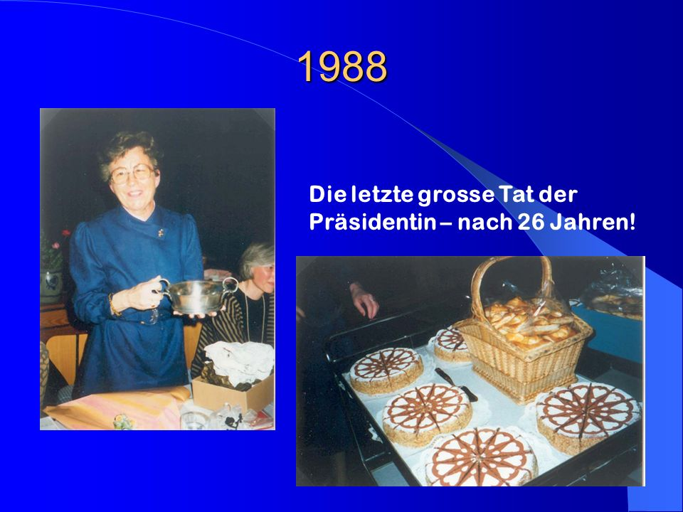 1988 Die letzte grosse Tat der Präsidentin – nach 26 Jahren!