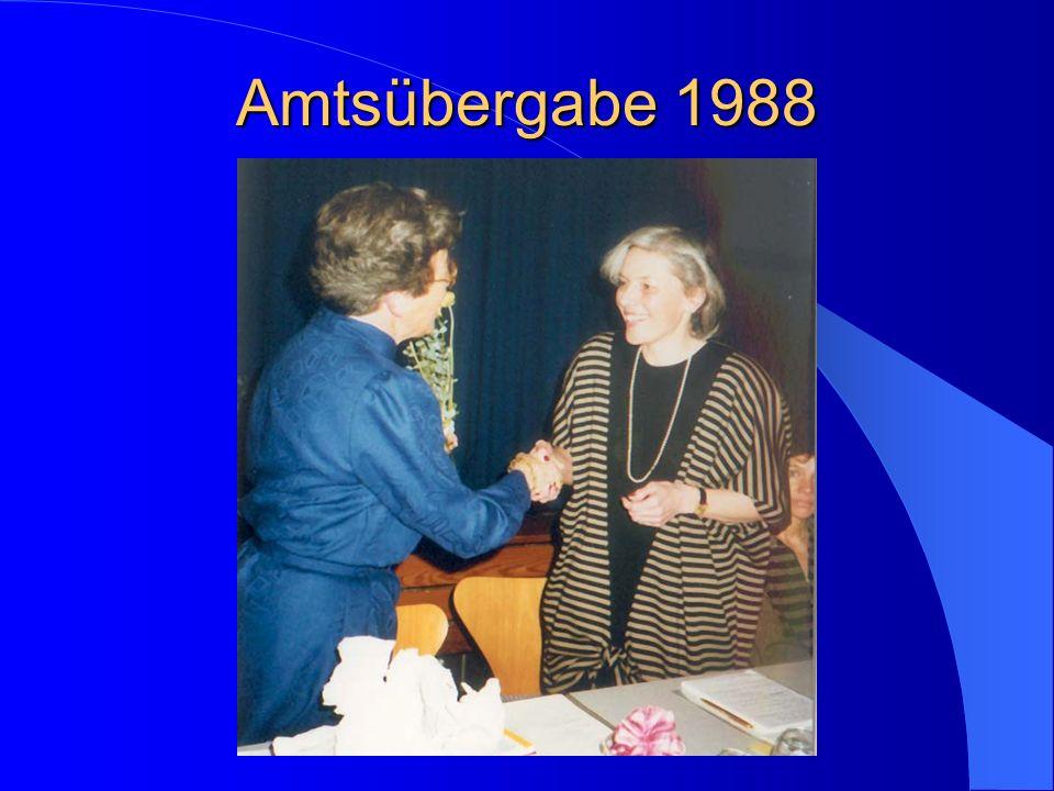 Amtsübergabe 1988