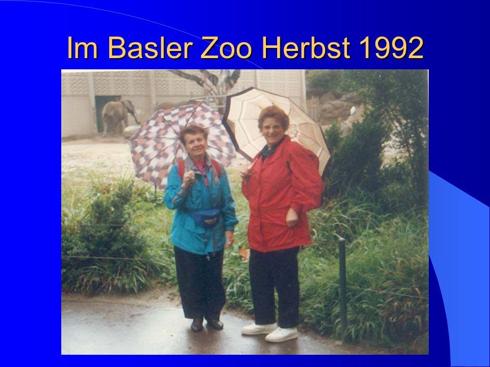 Im Basler Zoo Herbst 1992