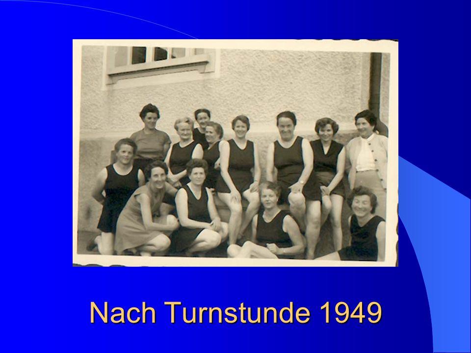 Nach Turnstunde 1949