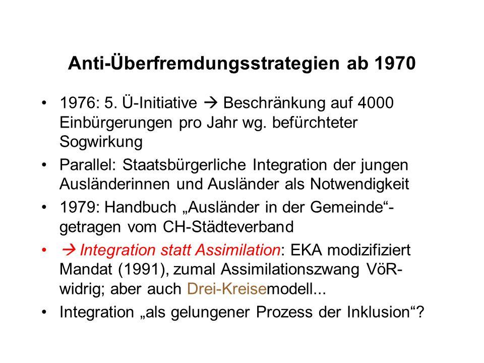 Anti-Überfremdungsstrategien ab 1970 1976: 5.