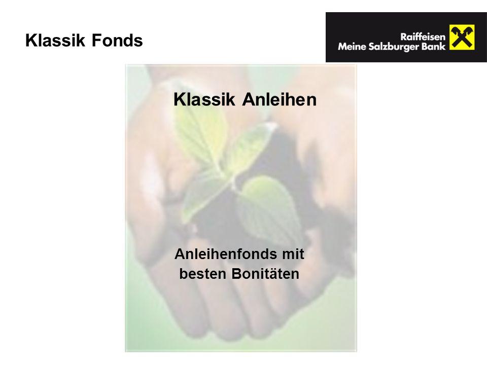 Klassik Anleihen Anleihenfonds mit besten Bonitäten Klassik Fonds