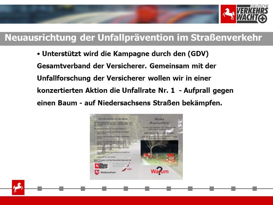 Unterstützt wird die Kampagne durch den (GDV) Gesamtverband der Versicherer. Gemeinsam mit der Unfallforschung der Versicherer wollen wir in einer kon