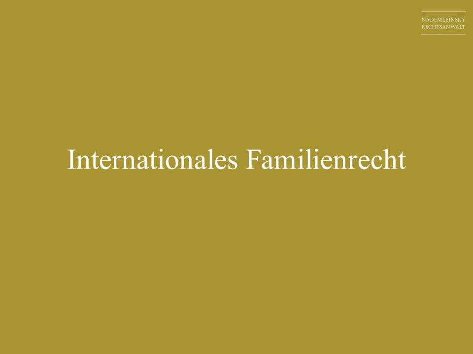 Internationales Familienrecht in Zahlen