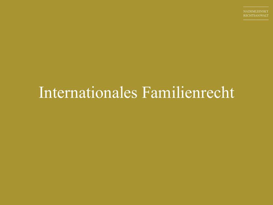 Internationales Familienrecht