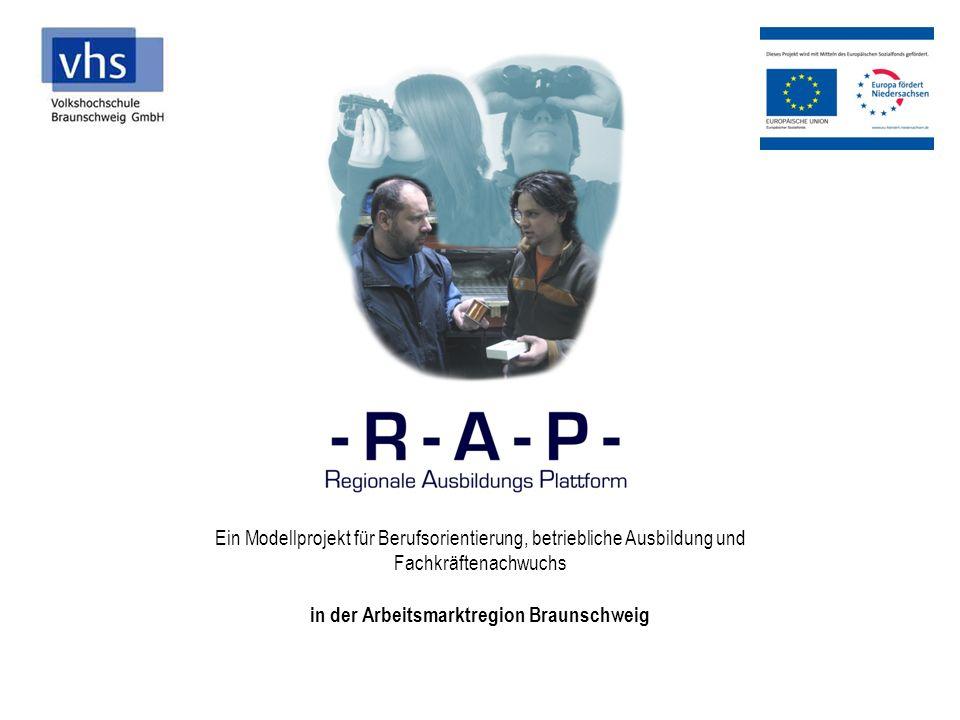 Ein Modellprojekt für Berufsorientierung, betriebliche Ausbildung und Fachkräftenachwuchs in der Arbeitsmarktregion Braunschweig