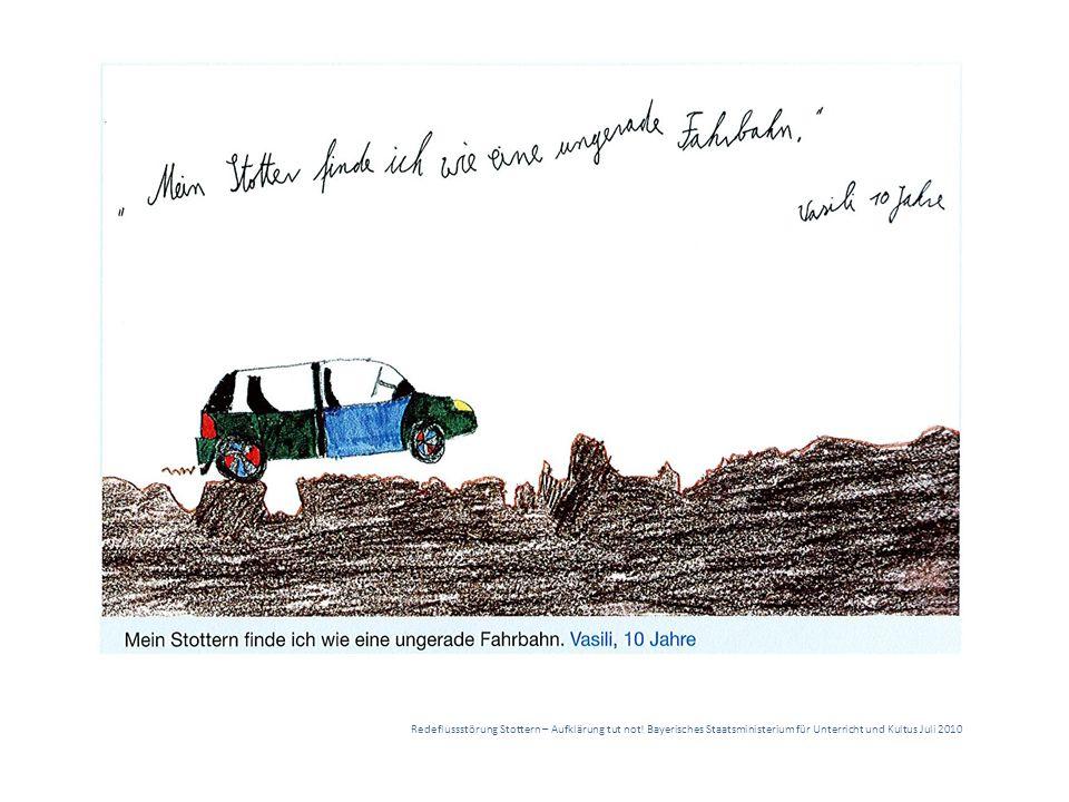 Redeflussstörung Stottern – Aufklärung tut not! Bayerisches Staatsministerium für Unterricht und Kultus Juli 2010