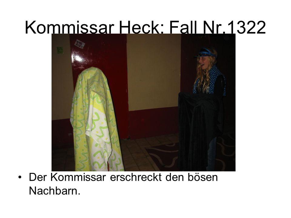 Kommissar Heck: Fall Nr.1322 Der Kommissar erschreckt den bösen Nachbarn.