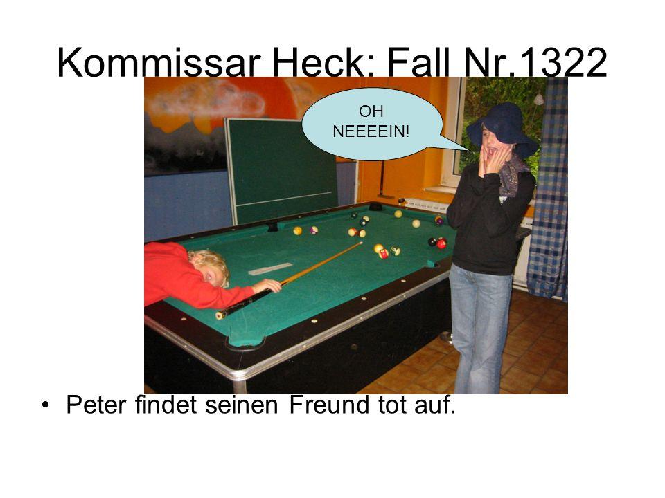 Kommissar Heck: Fall Nr.1322 Der böse Nachbar verkleidet sich als Geist um den Kommissar zu vertreiben.