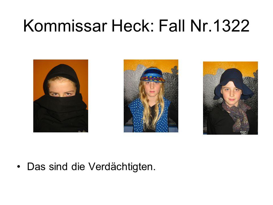 Kommissar Heck: Fall Nr.1322 Der Kommissar verhört die Verdächtigen und nimmt Ihre Aussagen auf.
