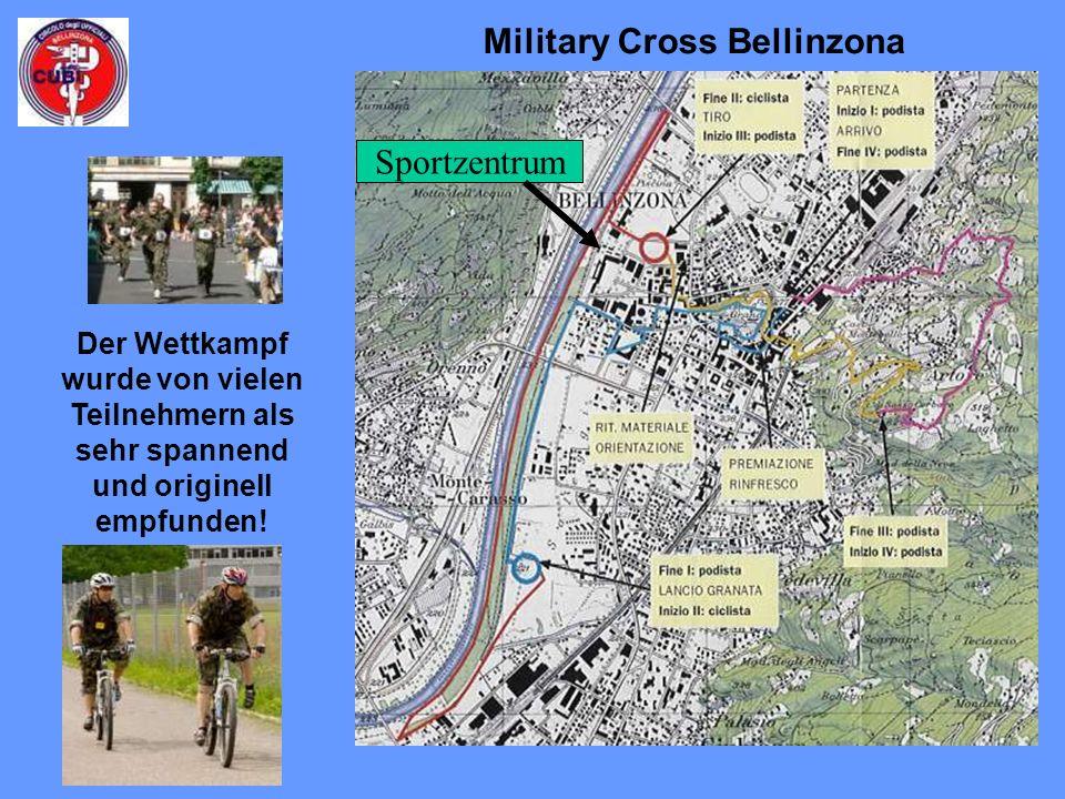 Military Cross Bellinzona Der Wettkampf wurde von vielen Teilnehmern als sehr spannend und originell empfunden.