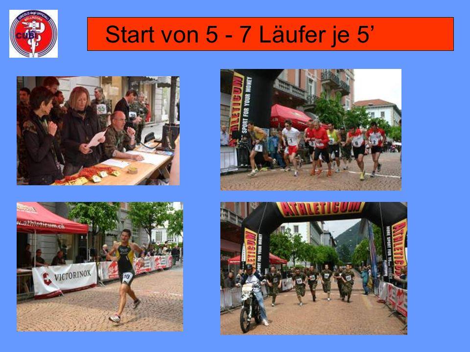 Start von 5 - 7 Läufer je 5