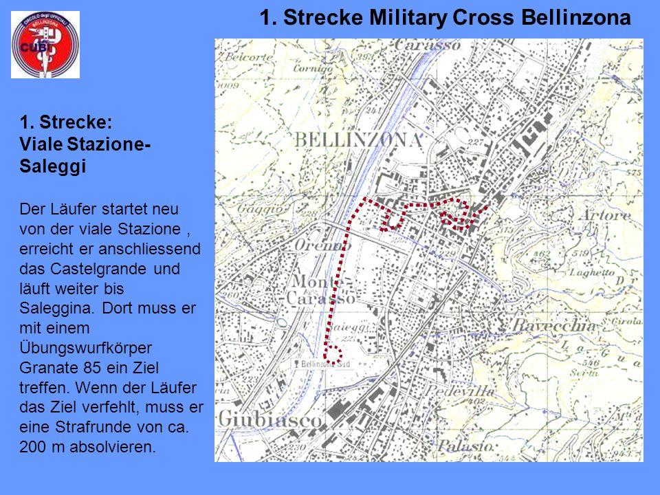 Der Läufer startet neu von der viale Stazione, erreicht er anschliessend das Castelgrande und läuft weiter bis Saleggina.