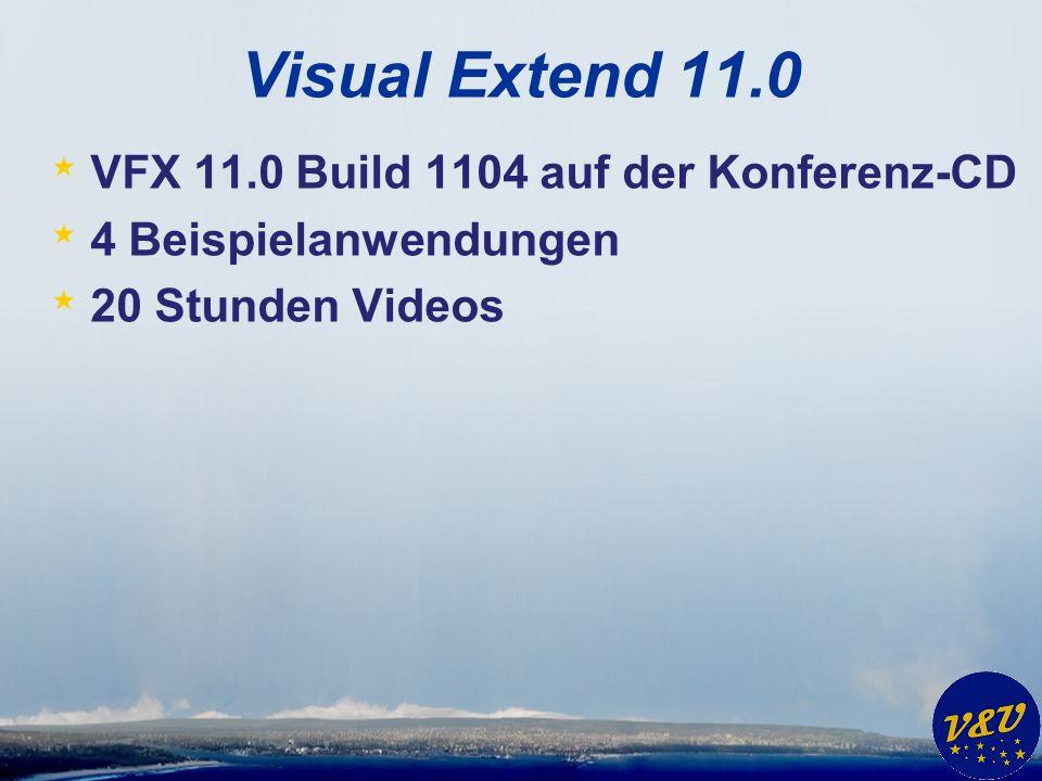 Visual Extend 11.0 * VFX 11.0 Build 1104 auf der Konferenz-CD * 4 Beispielanwendungen * 20 Stunden Videos