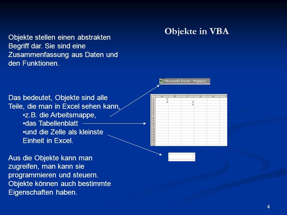 35 Nützliche Funktionen 2.10.1 InputBox Diese Funktion öffnet ein Dialogfenster mit einem Textfeld, in das eine Zeichenfolge eingeben werden kann.
