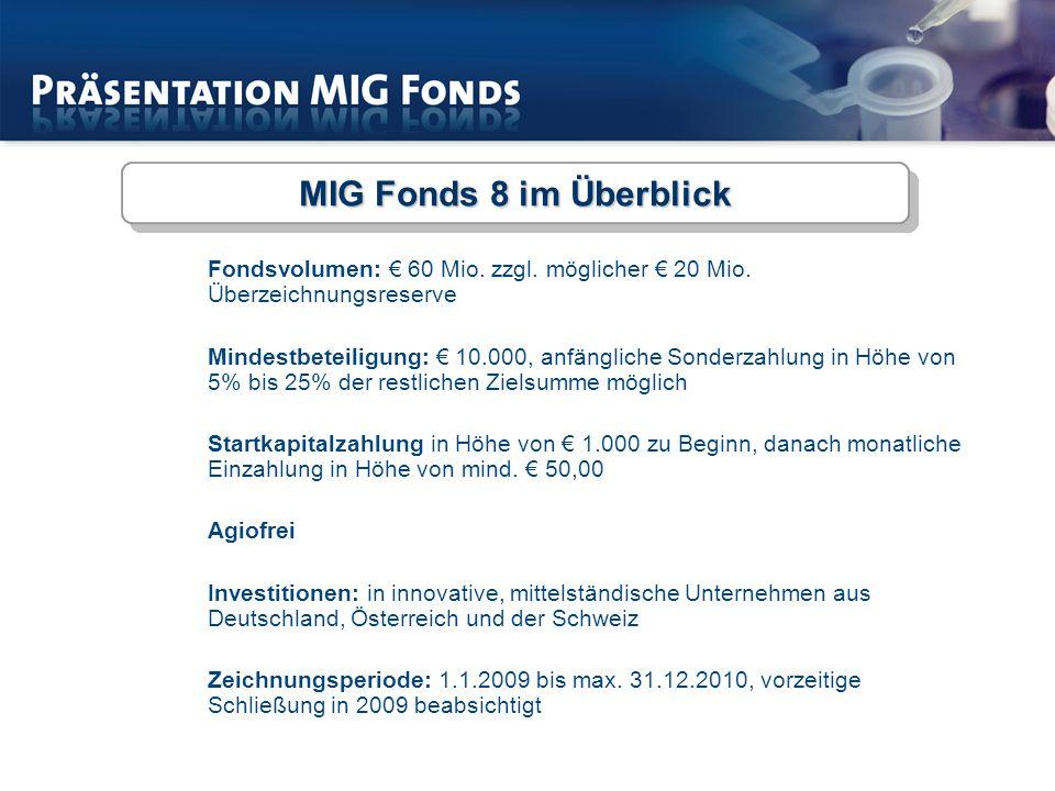 Fondsvolumen: 60 Mio.zzgl. möglicher 20 Mio.