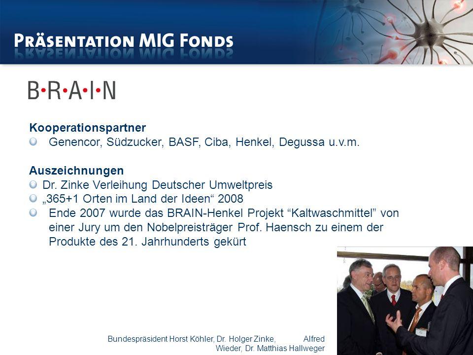 Kooperationspartner Genencor, Südzucker, BASF, Ciba, Henkel, Degussa u.v.m.